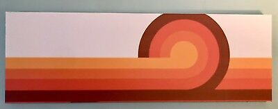 Retro Red Fade Stripes Verner Panton Style Canvas Art Wave Sunset Mid Century