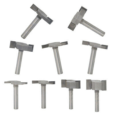 9Pcs 1/4-inch Shank T-slot Slotting Router Bit Woodworking Cutter