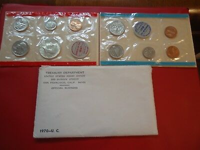 1970  P & D  Uncirculated  U S  Mint Set