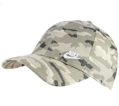 4c8268af2 NEW MEN'S NIKE Heritage Metal Futura Adjustable Hat (942212-335) Spruce Fog  / Wh
