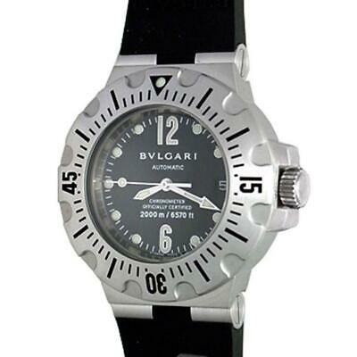 86ac7e6108b BVLGARI STAINLESS STEEL DIAGONO PROFESSIONAL AUTOMATIC WRISTWATCH 2000  Meters