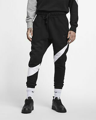 5e59b5dd37 New Men's Nike Sportswear Swoosh Fleece Pants (BQ6467-010) Black / White