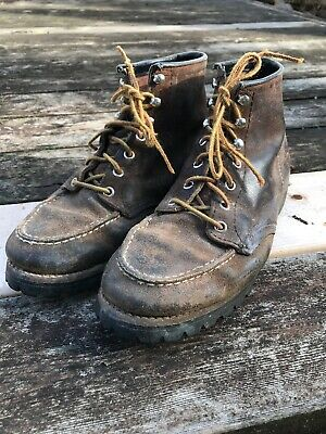 7840c95995f01 VINTAGE RED WING Mountaineering Hiking Stomper Men's Boots Size 8.5