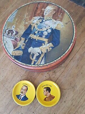 EDWARD V111 Tin & Edward V111 & George V (father) little tin souvenirs