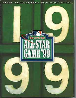 1999 All Star Game Program - Boston - Vladimir Guerrero's 1st AS Game