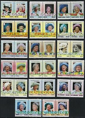 Queen Mother MNH Stamps from the Islands.................A 19 03 01