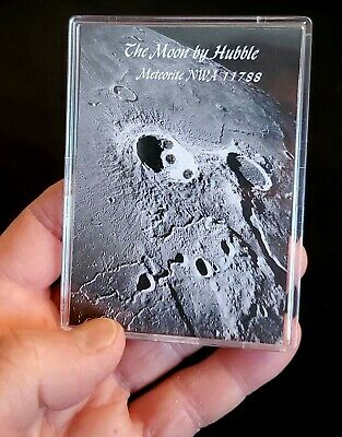 MUSEUM EDITION- AUTHENTICATED LUNAR METEORITE- 3 Moon Rocks- Jumbo Display+Easel
