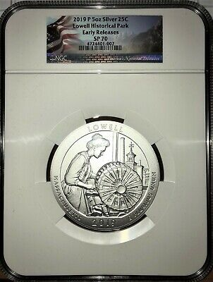 2019 P Lowell 5 oz Silver ATB Beautiful Specimen NGC SP70 ER LIVE