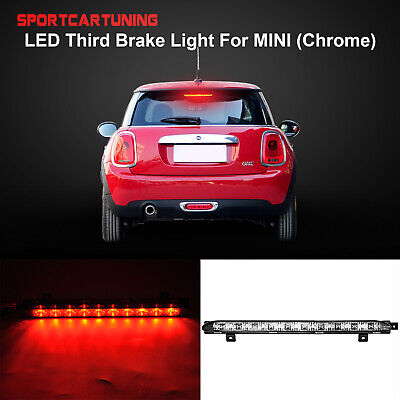 Smoke Black Lens Red Color 10-LED 3rd Brake Lamp High Mount Light for M-INI R56 Cooper CooperS R60 Countryman 06-16