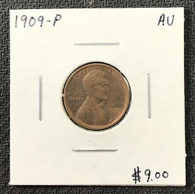 1909-P U.s. Lincoln Wheat Penny Cent ~ Almost Uncirculated Condition! C1700