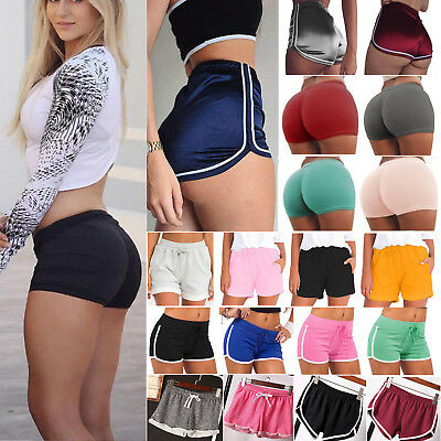 Womens Girls Sports Shorts Running Gym Fitness Short Pants Workout Beach Casual