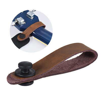 Leather Guitar Strap Button for Acoustic Electric Guitar Ukelele Bass Brown T1R2