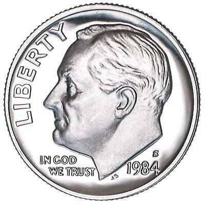 1984 S Roosevelt Dime Gem Deep Cameo CN-Clad Proof US Coin
