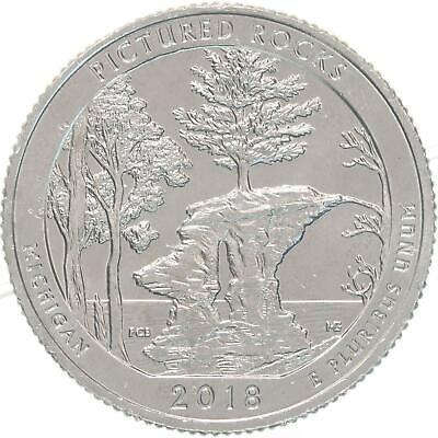 2018 S Parks Quarter ATB Pictured Rocks National Lakeshore BU CN-Clad US Coin