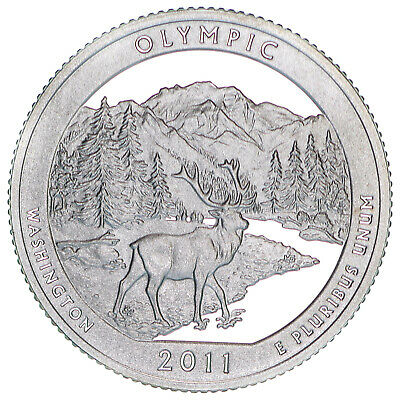 2011 S Parks Quarter Olympic National Gem Proof Deep Cameo 90% Silver US Coin