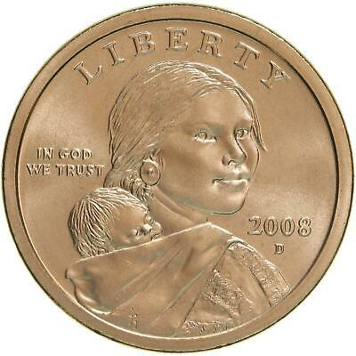 2008 D Native American Sacagawea Dollar Satin Finish