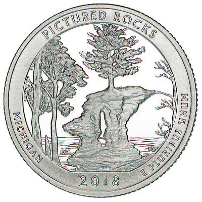 2018 S Pictured Rocks National Lakeshore Quarter ATB Gem Proof DCam CN-Clad Coin