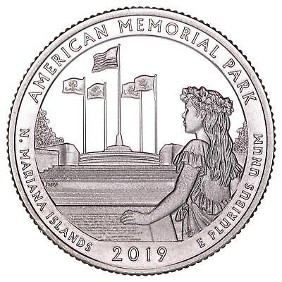 2019 S American Memorial Park Quarter ATB Gem Proof DCam CN-Clad Coin