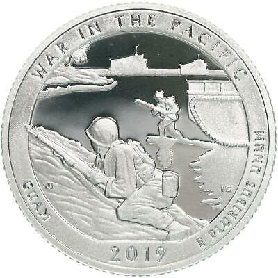 2019 S War In The Pacific National Park Quarter ATB Gem Proof DCam CN-Clad Coin