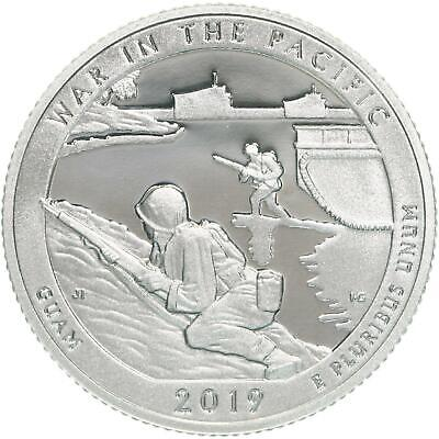 2019 S War In The Pacific National Park 99.9% Silver Quarter ATB Gem Proof