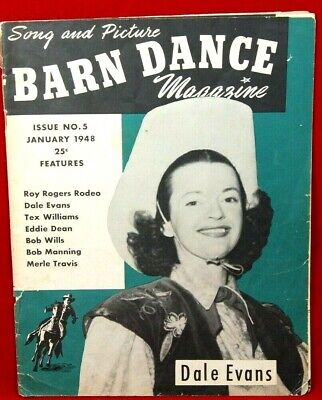 Issue #5 Barn Dance Magazine January 1948 Dale Evans Cover