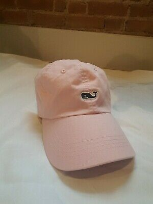 Vineyard Vines Adjustable Baseball Hat Pink with navy blue Whale Cap New 635bea0adcb6