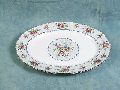 Royal Albert  Petit Point Bone China Large Oval Serving Platter 1930's