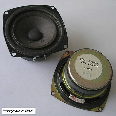 """pair of REALISTIC model #1016  3"""" full-range drivers, c.1985—excellent condition"""