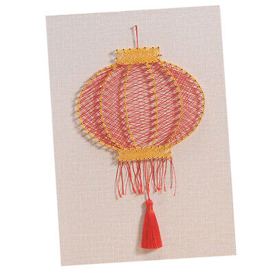 Lantern Nail String Art Kit for Adults DIY Craft Wooden Winding Nail Picture