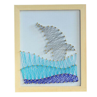 Dolphin Wood Nail String Art Kits for Kids Children with Supplies Wall Decor
