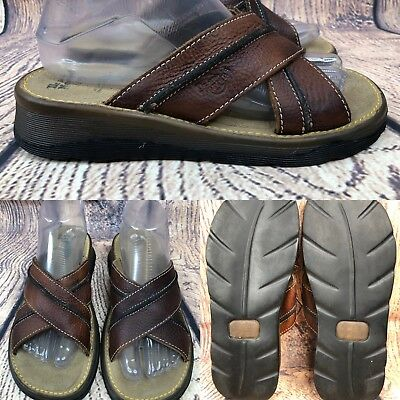 4b3696bb547a Womens DR MARTENS 8A53 Brown Criss Cross Leather Slides Sandals SIZE UK 5 - US  7