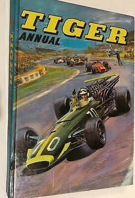 vintage boys tiger annual 1969 / 1970  hard cover book