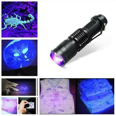 UV Ultra Violet Flashlight LED Blacklight Light 395 365 nM Inspection Lamp Torch