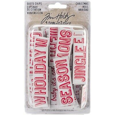 TH - Idea-Ology Chipboard Quote Chips 60/Pkg - Christmas Words & Phrases