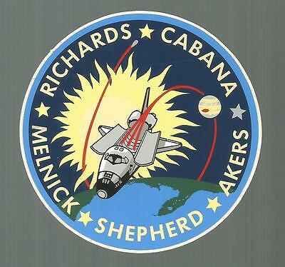 """NASA SHUTTLE ENDEAVOUR STS-89 CREW PATCH SPACE DECAL STICKER 4 1//2/"""""""