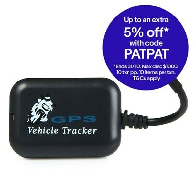 GPRS Motorcycle Car GSM Tracker with SMS Anti-theft Vibration Alarm
