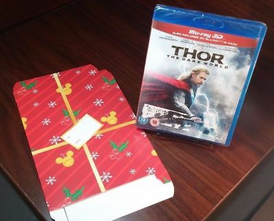 Thor: The Dark World (3D Blu-ray/Blu-ray)+Holiday Gift Box-NEW-Free Shipping