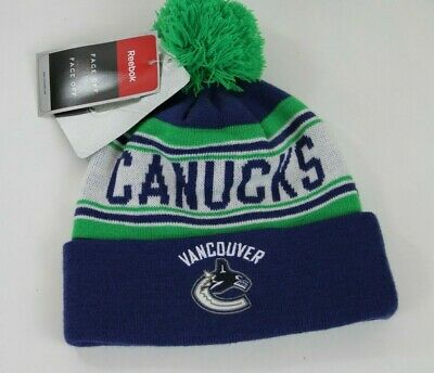 de0c6e63bae REEBOK NHL VANCOUVER Canucks Youth Cuffed Pom Knit Beanie Boys 8-20 ...