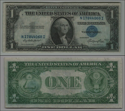 1935 E  $1  Dollar Bill Silver Certificate Currency Blue Seal K-343
