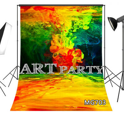 Vinyl Studio Backdrop Background 5x7FT Abstract Fire Colorful Painting Art Party