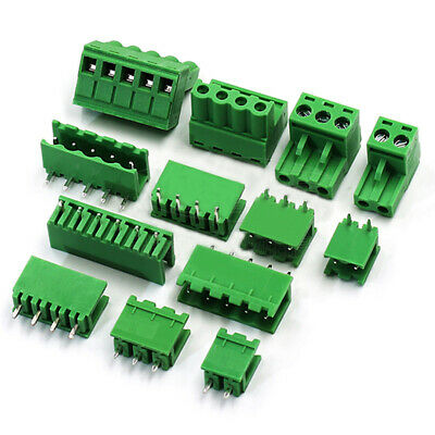 10×5mm PCB Pluggable Terminal Block Screw Connector 2-16P 90 Angle/Straight/Plug