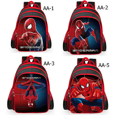 Marvel Spiderman Kid Bag Children Boy School Backpack Spider-Man 3D Rucksack New