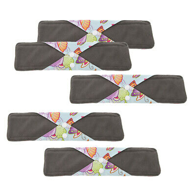 """5x Large Women Washable Bamboo Cloth Menstrual Sanitary Pads Leakproof 11.8"""""""