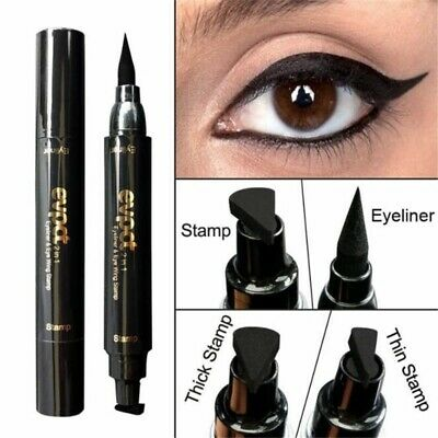 Winged Eyeliner Seal Stamp Black Cat Eye Double Head Eyeline Pen Makeup Tool