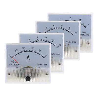 10mA DC 0-10mA Analog Amp Meter Ammeter Current Panel Ampere Meter 64x56mm