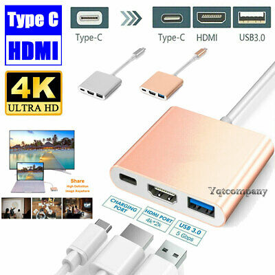 USB Type C to HDMI HDTV AV TV Cable Adapter For Samsung Galaxy S10+ / LG MacBook