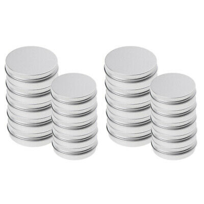 20Pcs 25/150ml Empty Aluminum Cosmetic Pot Jar Tin Container with Screw Lid