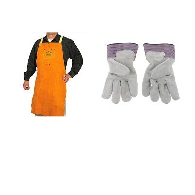 1PCS Heat Resistant Flame Resistant Work Apron + One Pair Working Gloves