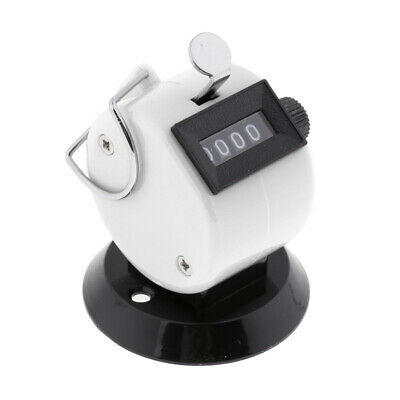 Hand Tally Counter 4 Digit Mechanical Palm Number Clicker, Convenient White