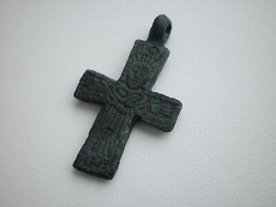 RARE ANCIENT Bronze Viking CROSS PENDANT Viking Kievan Rus 10-11 century AD